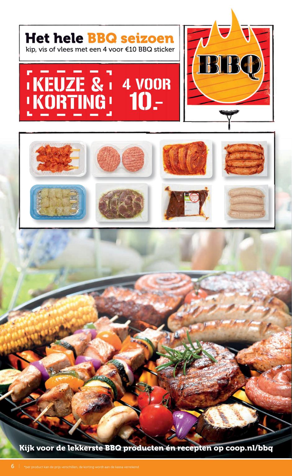 barbecuevlees folder aanbieding bij Coop details